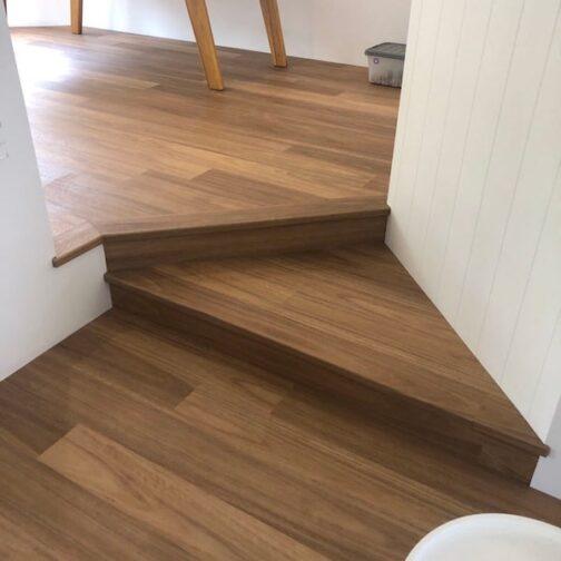 Coastal Blackbutt Rigid Plank 600x600 stairs min