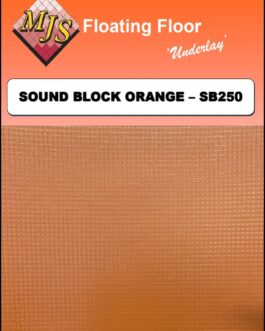Cush 'N' Wood Sound Block Orange Underlay 2mm x 1m x 50m Roll