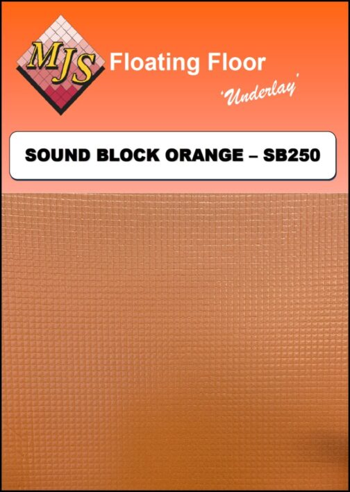 Cush N Wood Sound Block Orange Underlay